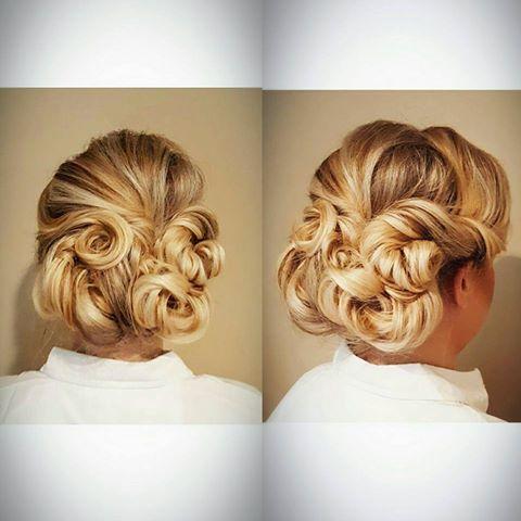 vintage wedding hairstyle alexandrea