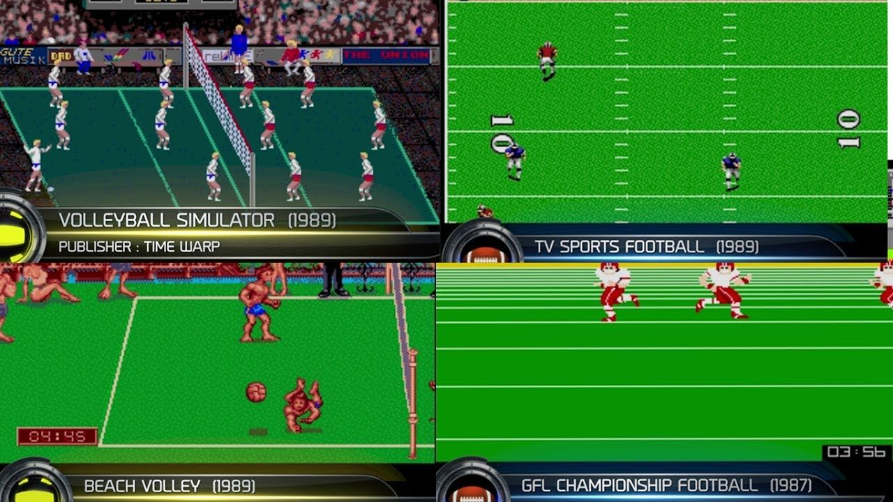 Atari St Sports Games American Football Volleyball American Football Sports Sports Games