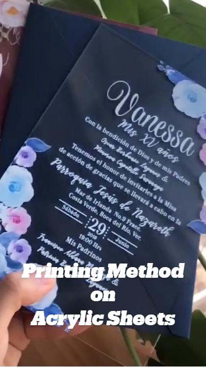 Printing Method on Acrylic Sheets