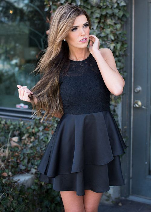 Online Boutique Best Outfits Elegant As A Swan Dress Black