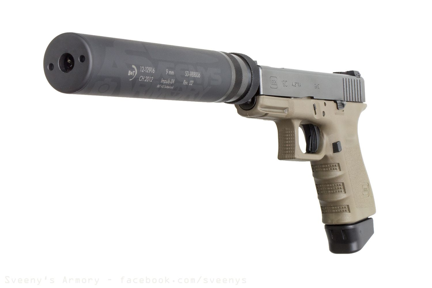 Glock 19C Suppressed