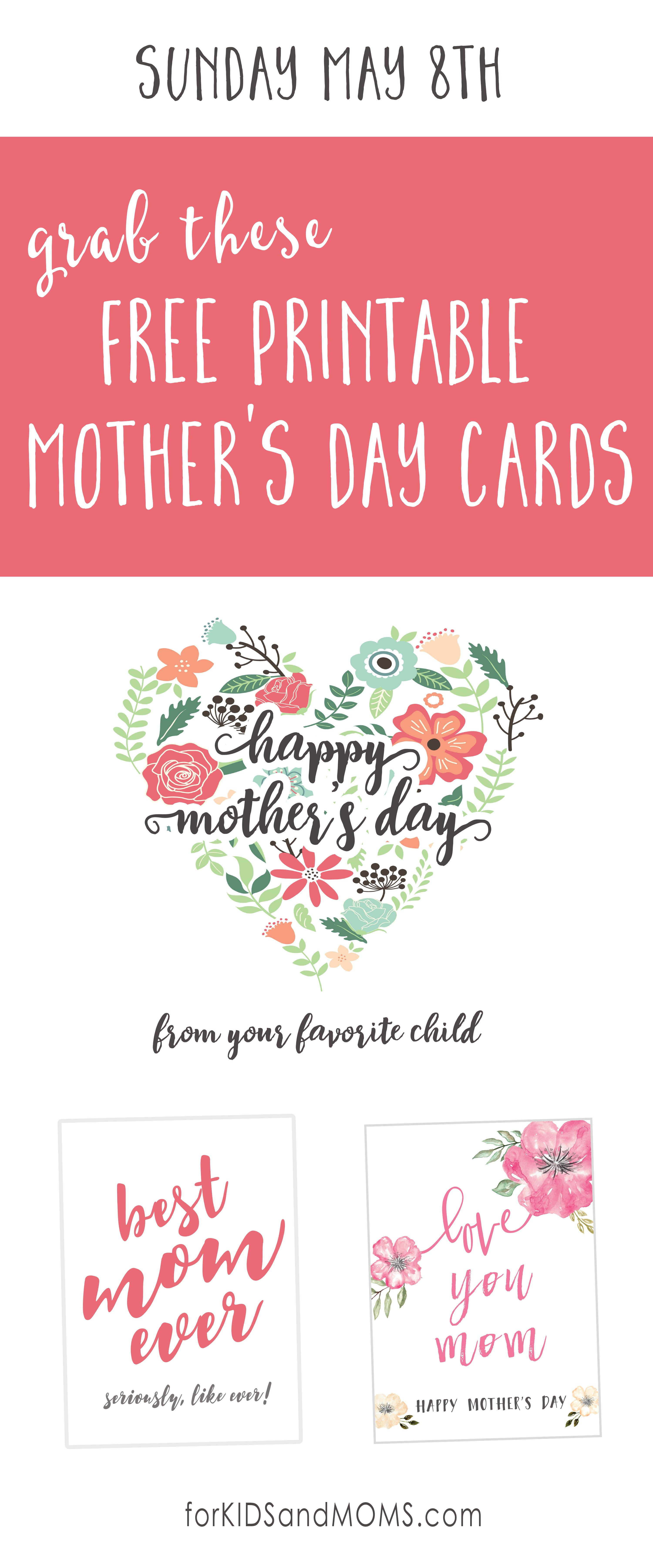 That Special Day For Mom Is Just A Few Days Away So We Thought That It Would Be Fun To Share A Mothers Day Cards Printable Mothers Day Cards Mother Day