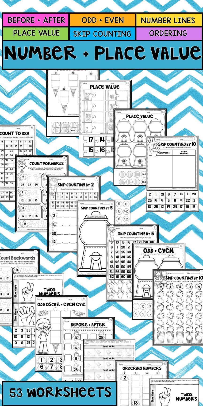 Number and Place Value Worksheet Mega Pack | Worksheets, Math and ...