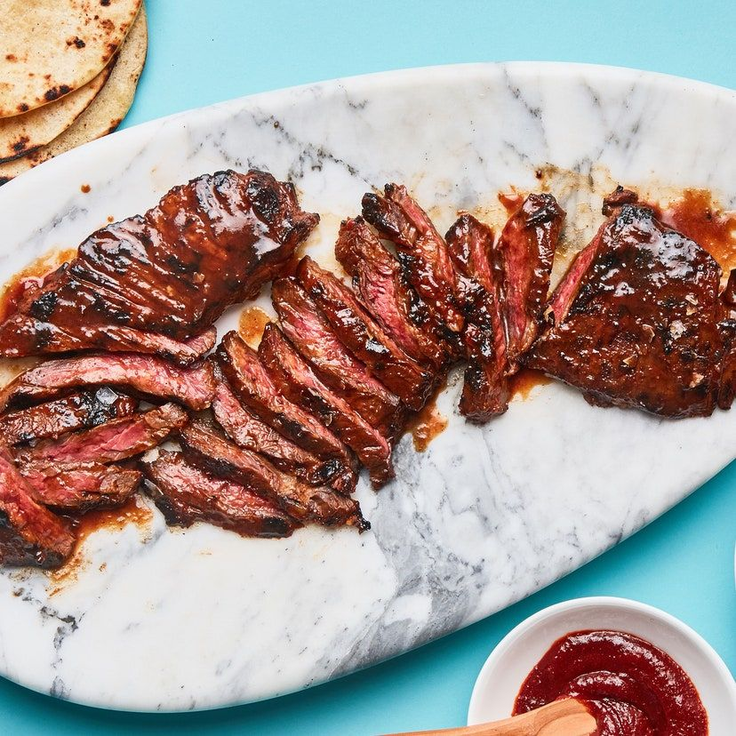 Gochujang-Marinated Skirt Steak Recipe   Recipe in 2020 ...