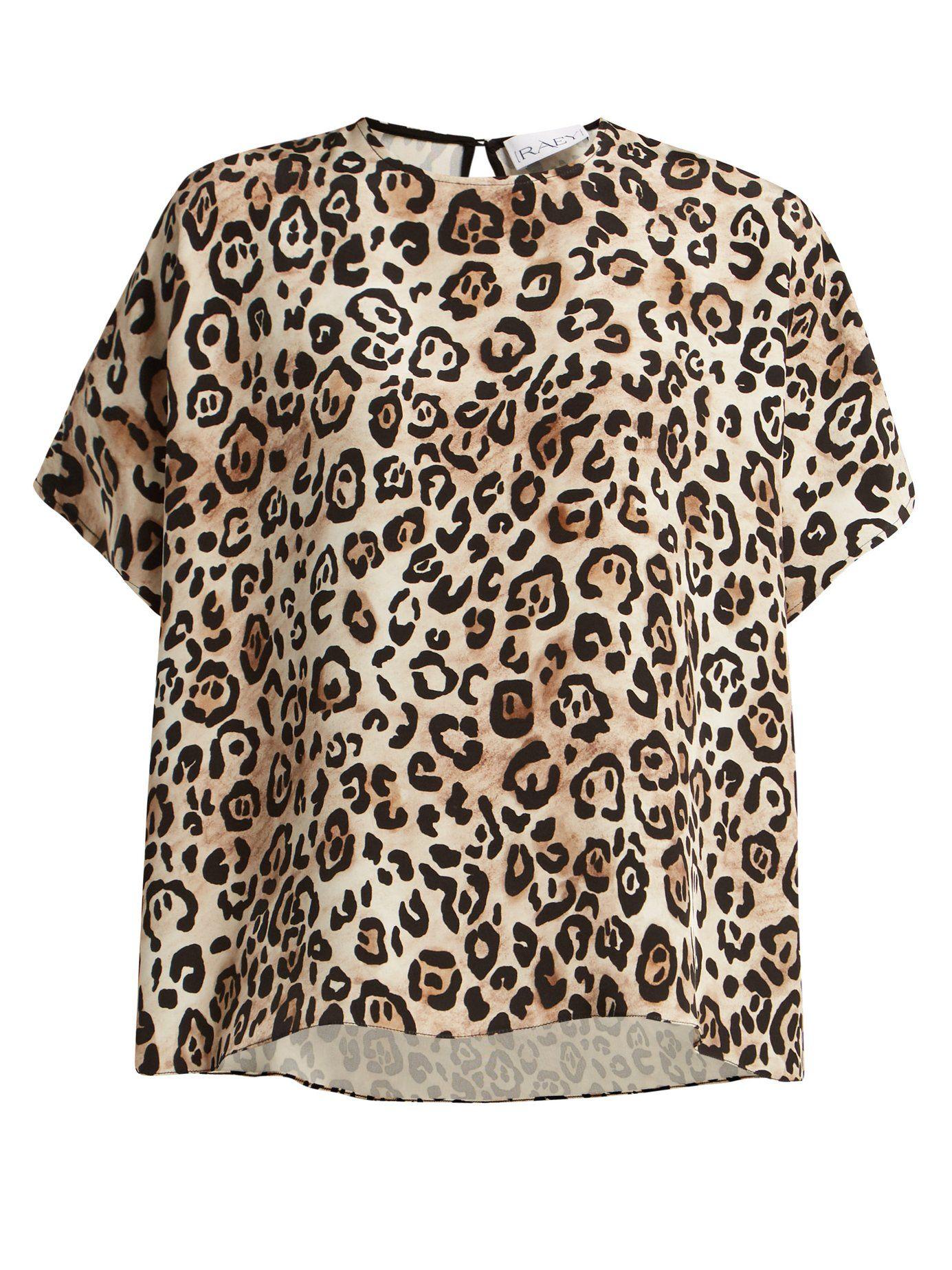 167fb1c66dc14b Square leopard-print silk top