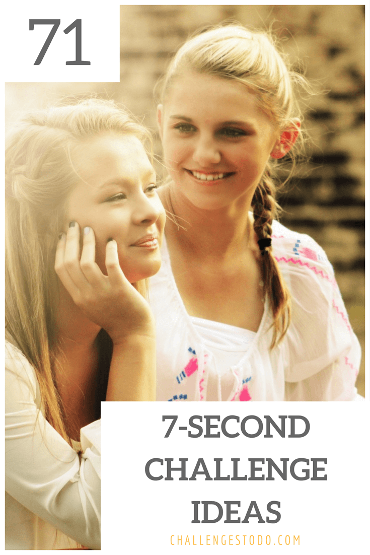 71 Awesome 7 Second Challenge Ideas   Pinterest