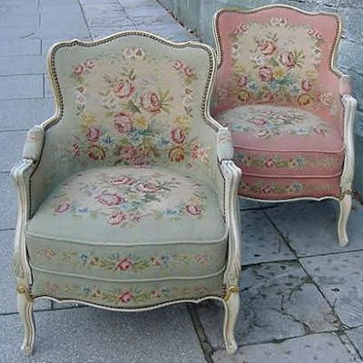 Etonnant Shabby Chic Armchairs ♡ Prefer Upholstered Arms But Love The Fabric Choices  Here