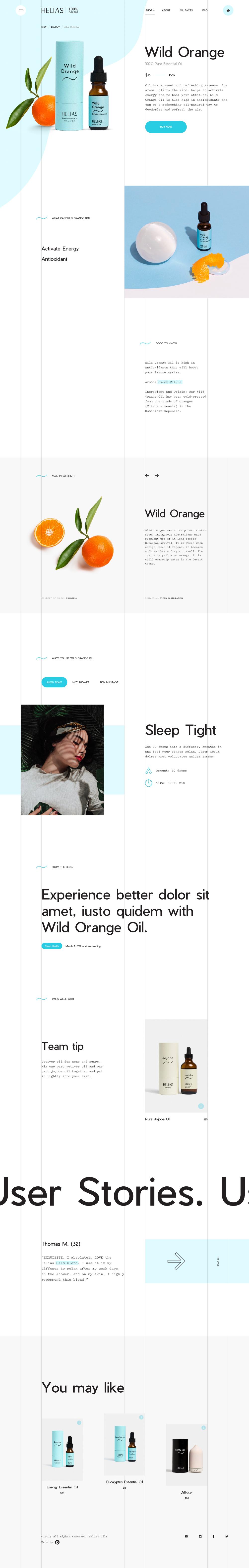 Helias Oils Juraj Molnar Web Design User Experience Digital Design Web Design
