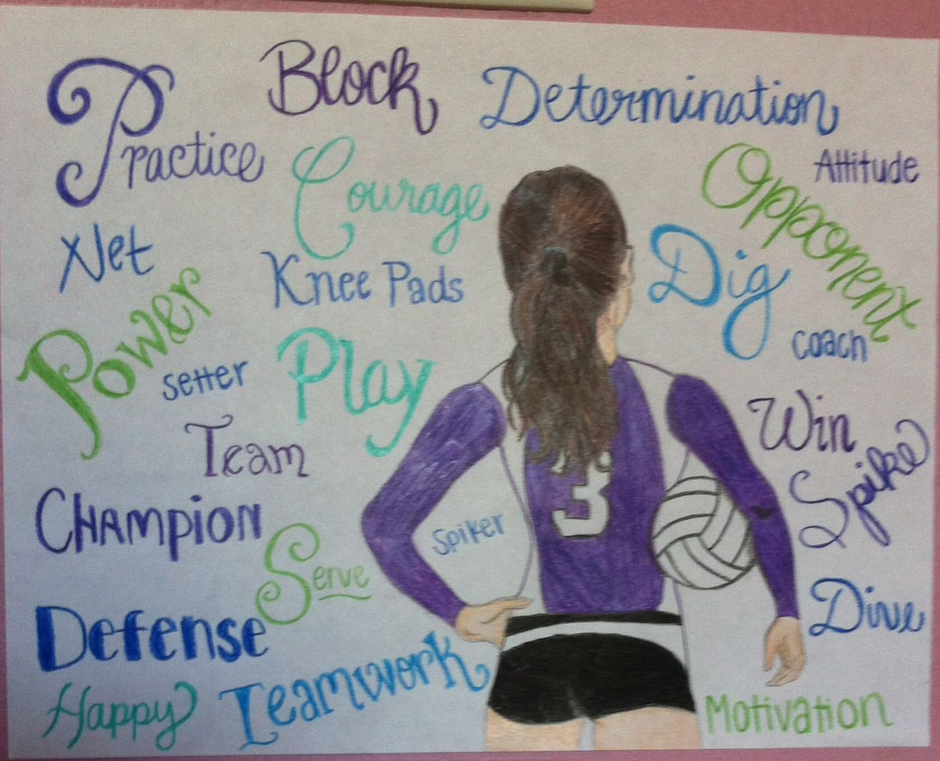 My Volleyball Drawing And That S My Volleyball Number Volleyball Drawing Volleyball Crafts Volleyball Posters
