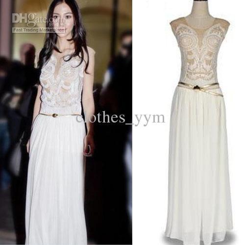 Popular Ladies Chiffon Dress Party Maxi Dress Retro Fine | Maxi ...