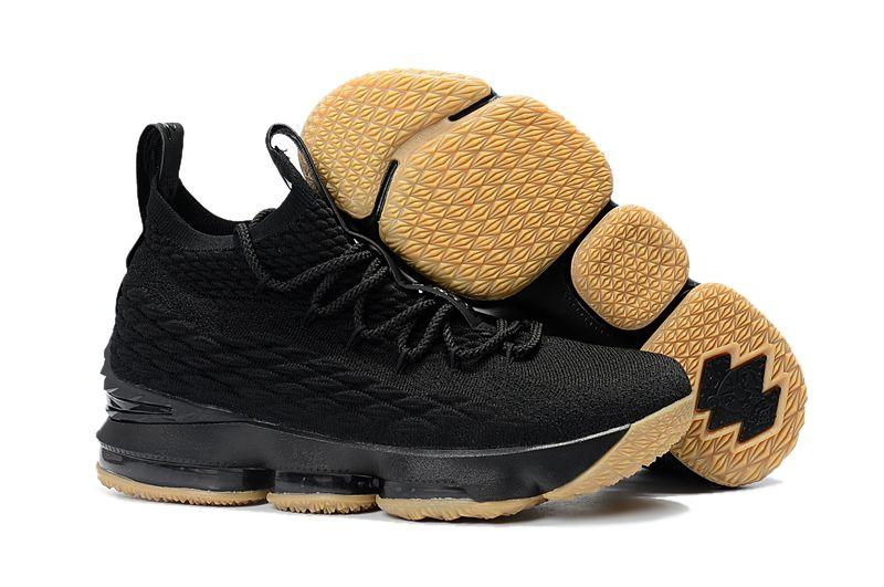 03f76908c10e3 nike lebron xv ep lbj15 詹姆士15代新款針織男子氣墊籃球鞋 黑生膠 ...