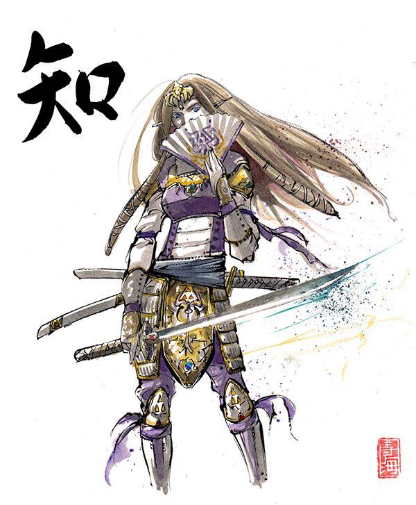 Personagens de vários jogos são desenhados como Samurais | Hyrule Legends
