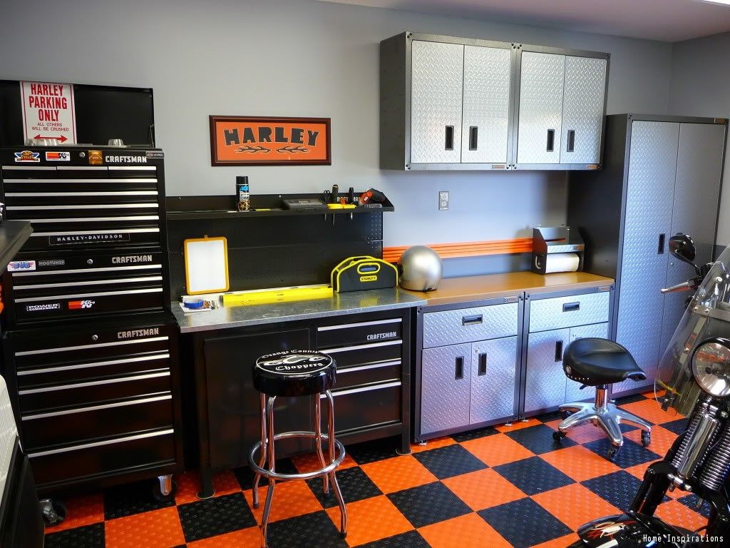 Man Cave Garage Journal : 50 garage paint ideas for men masculine wall colors and themes