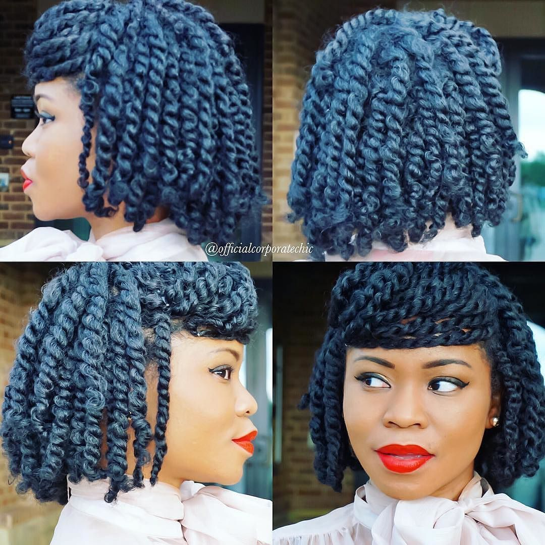 These Cleopatra styled twists are SO creative