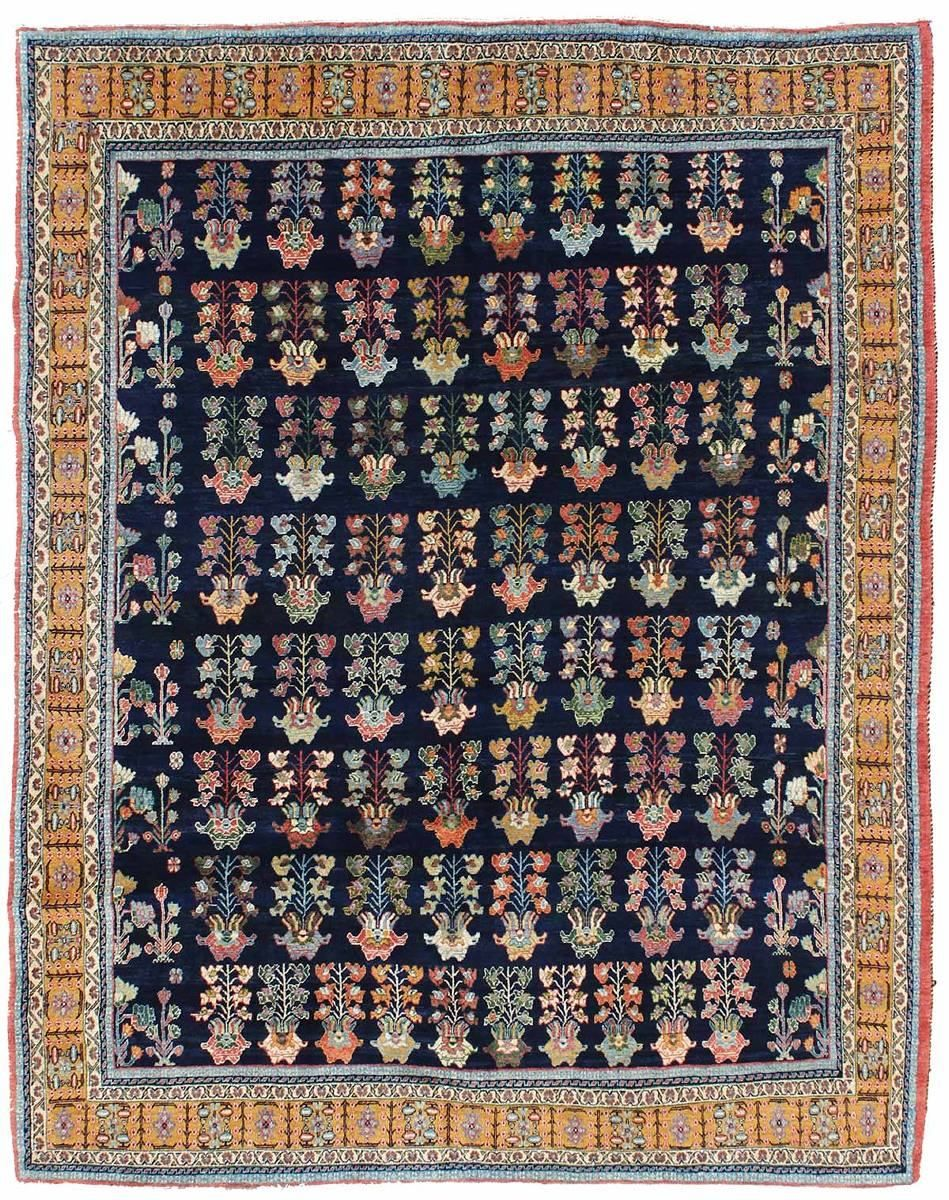 Geometric Oriental Rug Gallery Persian Khamseh Hand Knotted In Persia Size