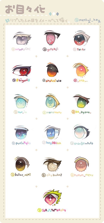 Anime Eye Example Drawings
