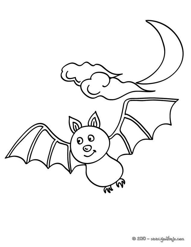 Murcielago Para Colorear Murcielago Dibujo Halloween Para Colorear Paginas Para Colorear