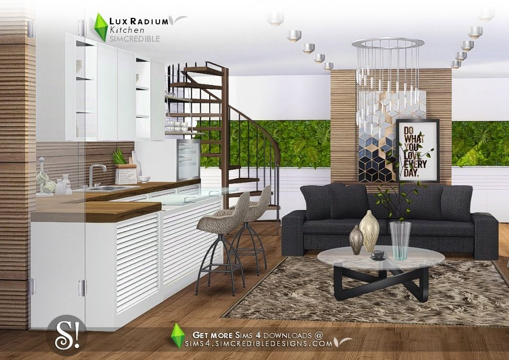 Lana CC Finds - Lux Radium Kitchen by Simcredible! (Sims 4 ...