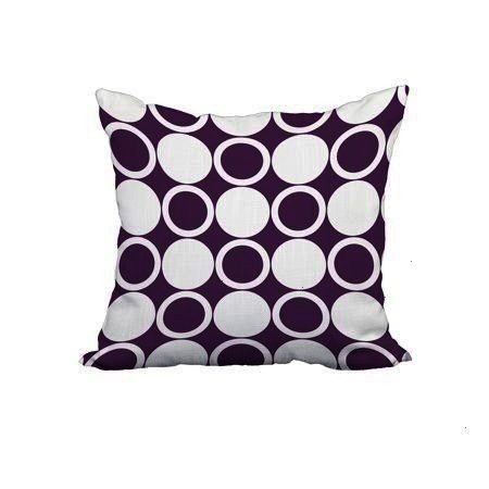 20 Inch Small Modcircles Purple Geometric Print Decorative Polyester Throw Pillow with L 20 x 20 Inch Small Modcircles Purple Geometric Print Decorative Polyester Throw P...