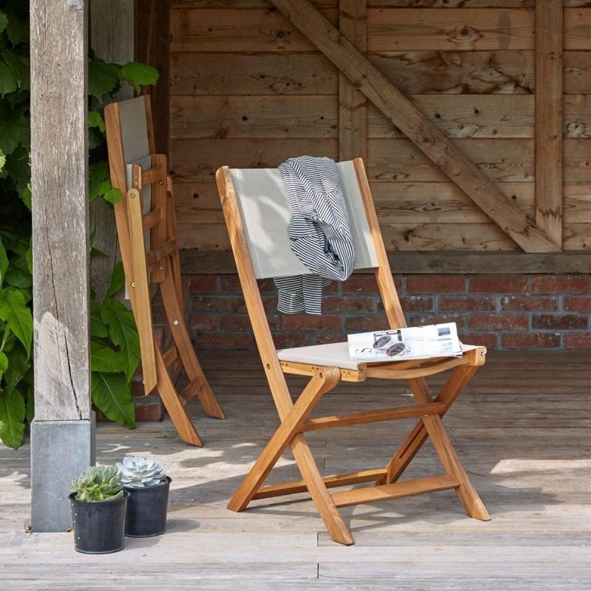 Salon De Jardin En Bois D\'acacia Fsc Et Textilène 6 À 8 Places ...