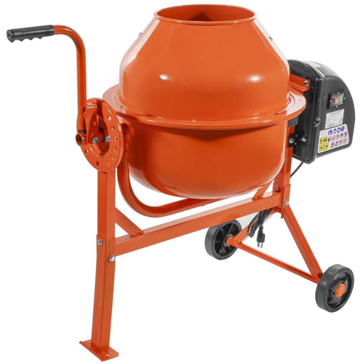 Stkusa 2 1 4 Cubic Feet Portable Electric Concrete Cement Mixer Barrow Machine Mixing Mortar Cement Mixers Concrete Cement Concrete Mixers