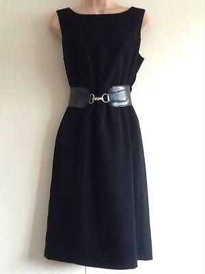 approx Pencil Black Dress,Smart Office,Work Wear Dress Size 10,12,14 Wiggle