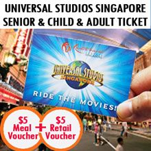 Universal Studios Singapore Uss Open Dated Super Value Bundle 新加坡环球影城 With 5 Retail Voucher 5 M Universal Studios Singapore Universal Studios Travel Deals