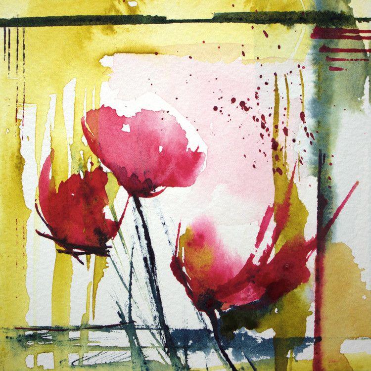 Petit Instant N 142 Peinture 10x10 Cm C 2014 Par Veronique