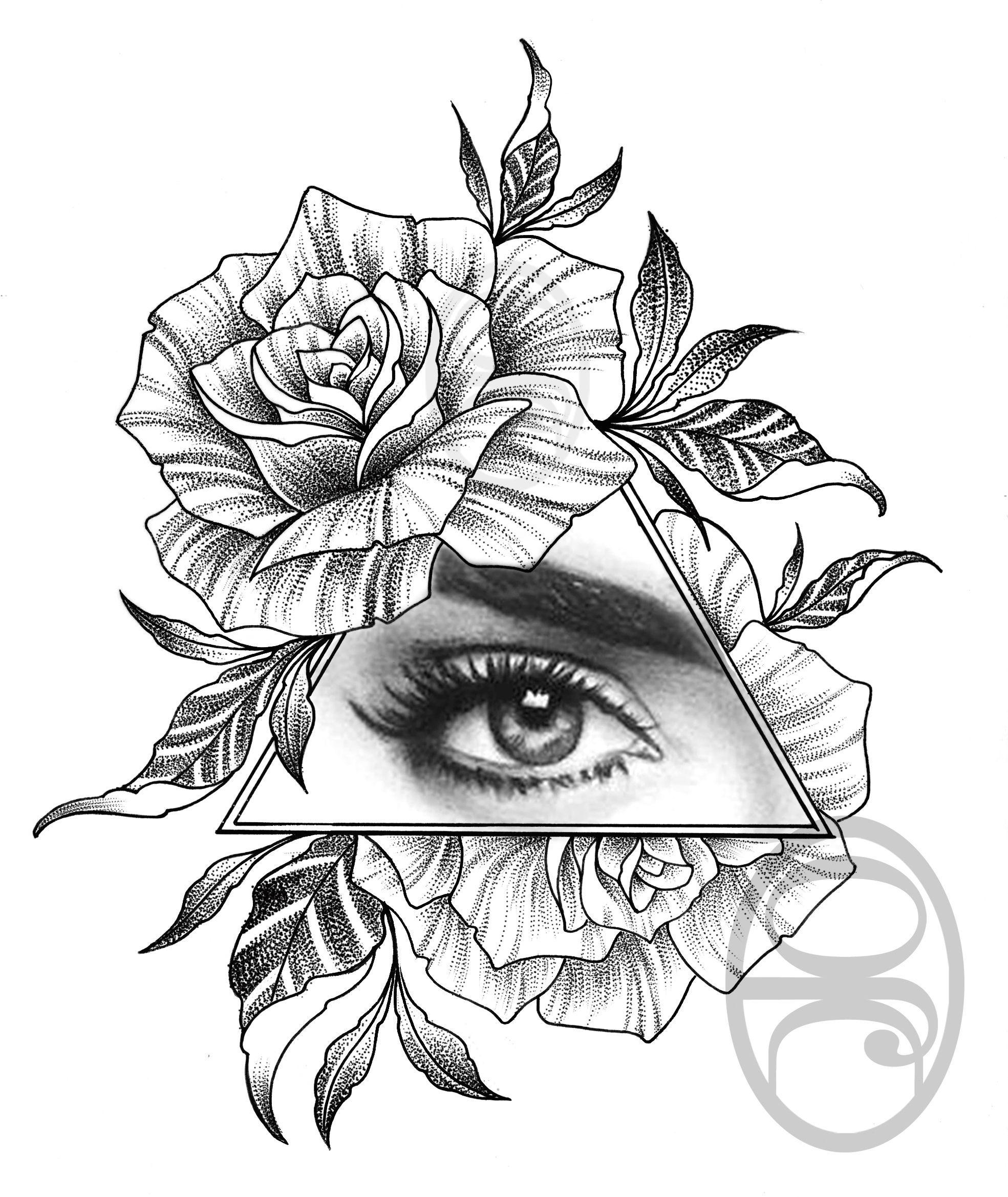 rosetattoo rosetattoodesign rose eyetattoo