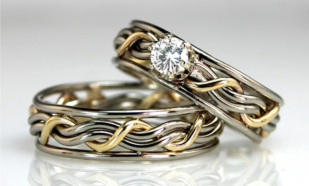 celtic matched wedding set unique wedding rings meaningful gifts