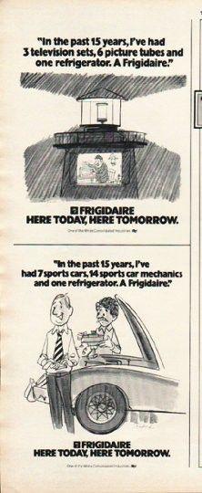 "1980 Frigidaire Vintage Ad ""past 15 Years"""