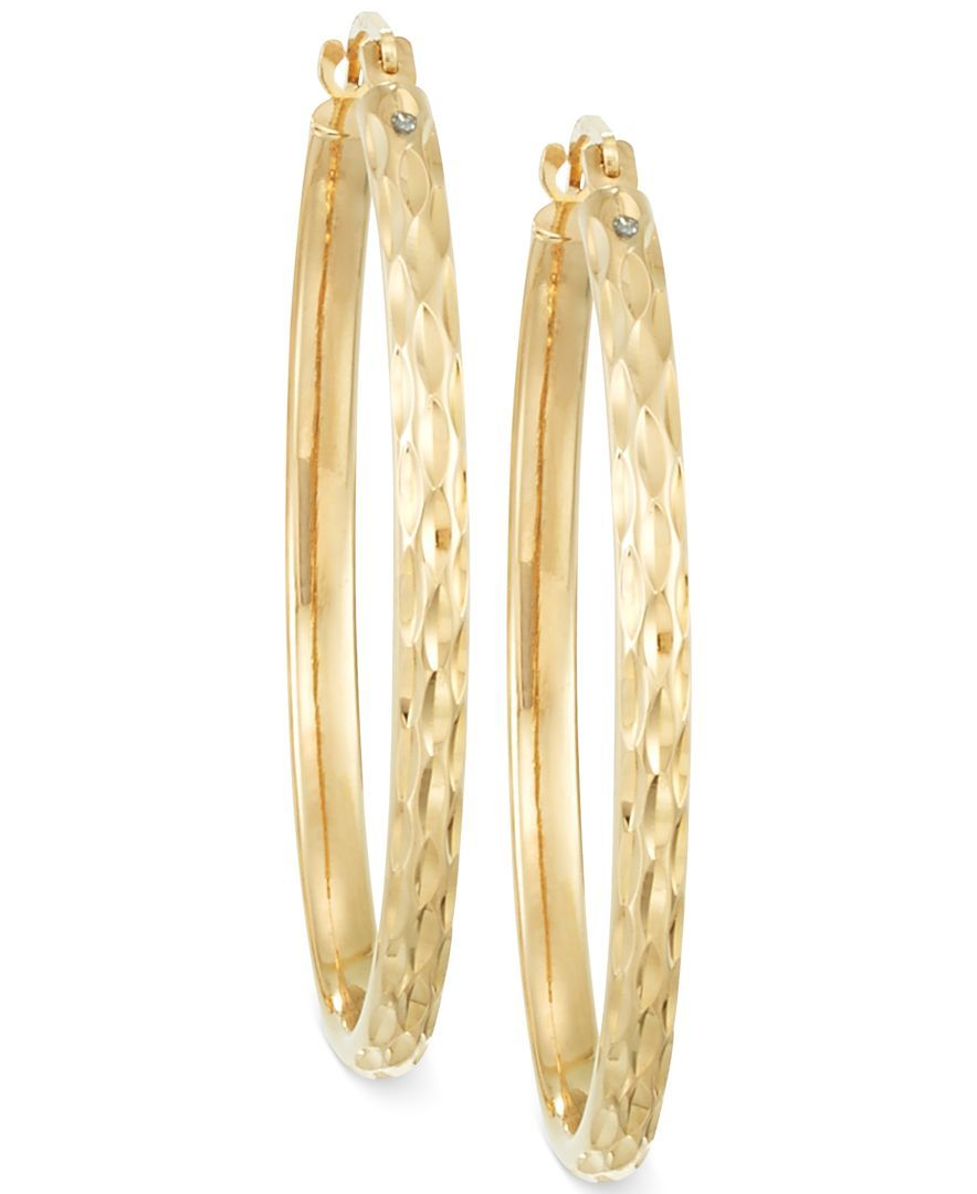 Signature Gold DiamondCut Hoop Earrings in 14k Gold Products