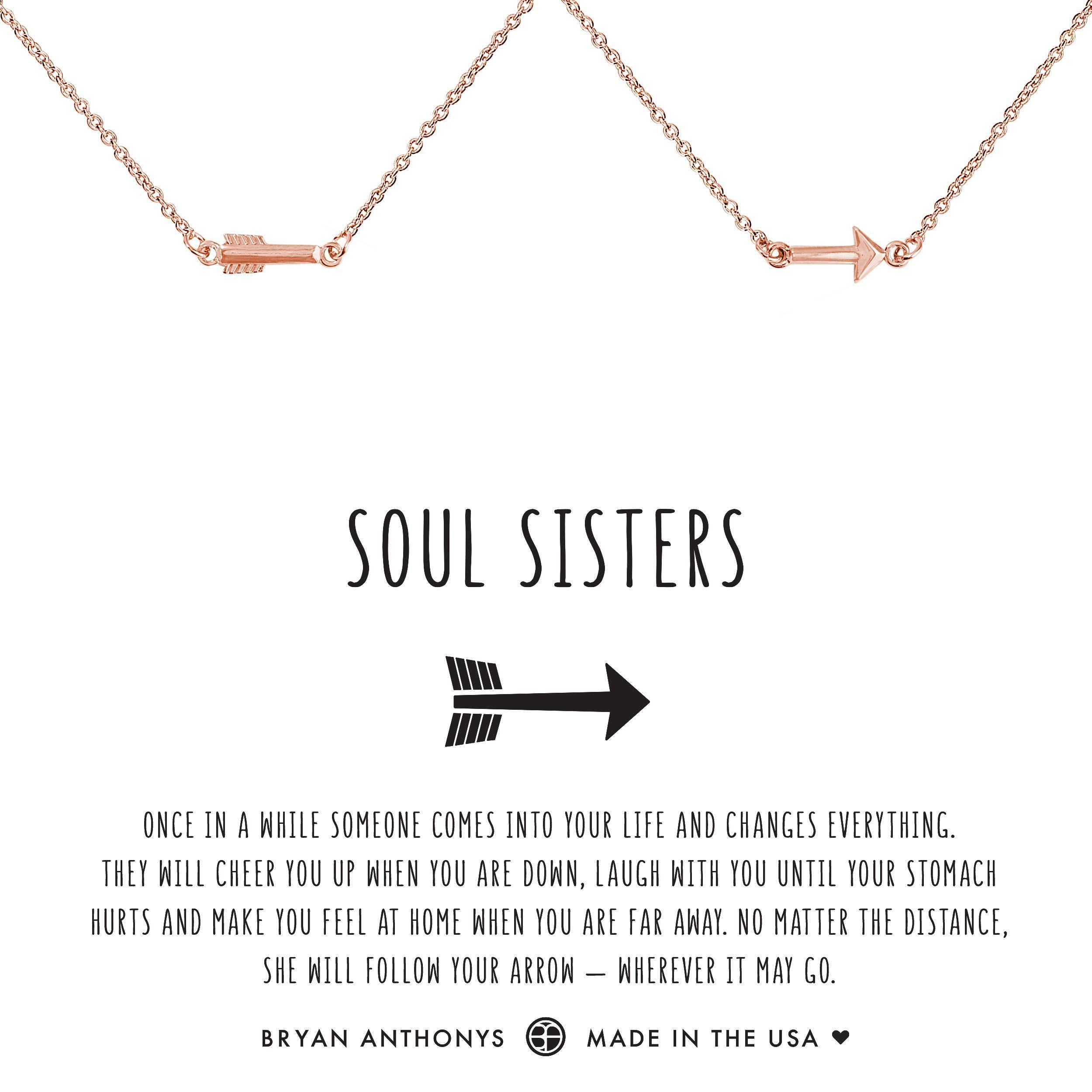 aa7472aaa Soul Sisters Best Friend Arrow Necklaces. Bryan Anthonys dainty soul  sisters best friend arrow necklaces set 14k gold ...