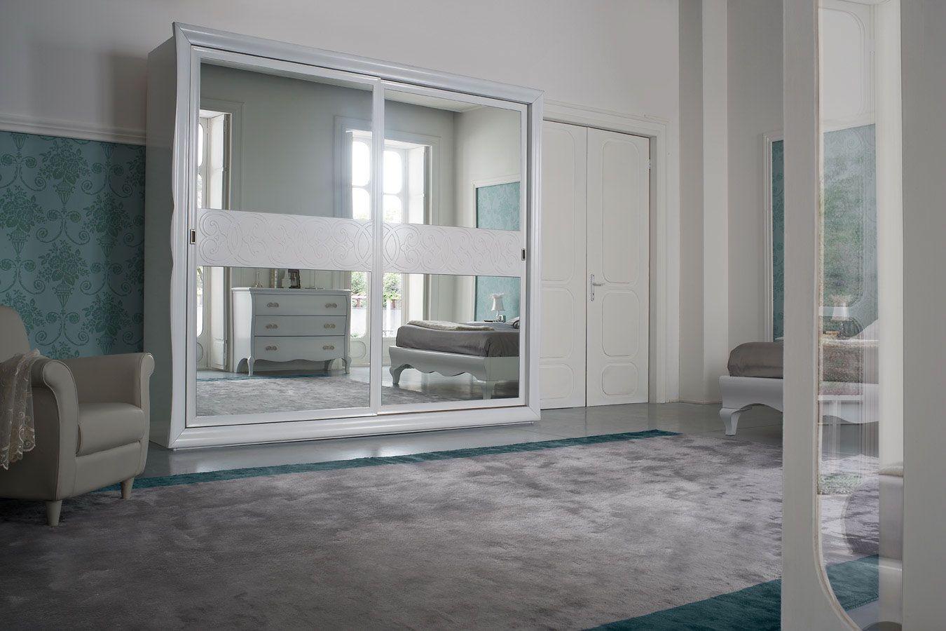 Bedroom Symfonia in White Armadio specchio, Armadio a
