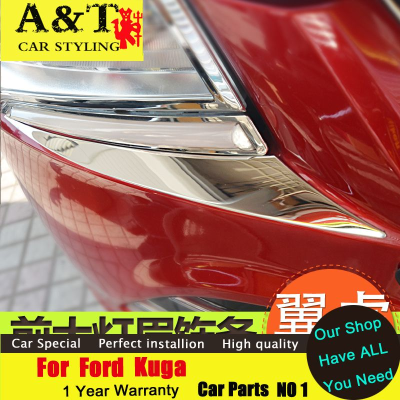 A&T car styling For Ford Kuga Escape Headlight eyebrow trim 2013 ...
