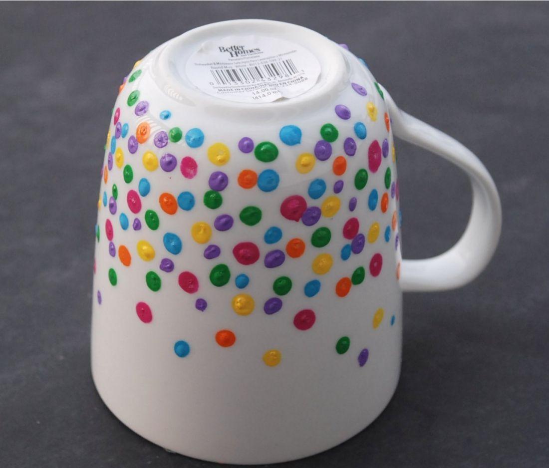 Diy Polka Dot Mug Coffee Mug Designs Ideas Mugs