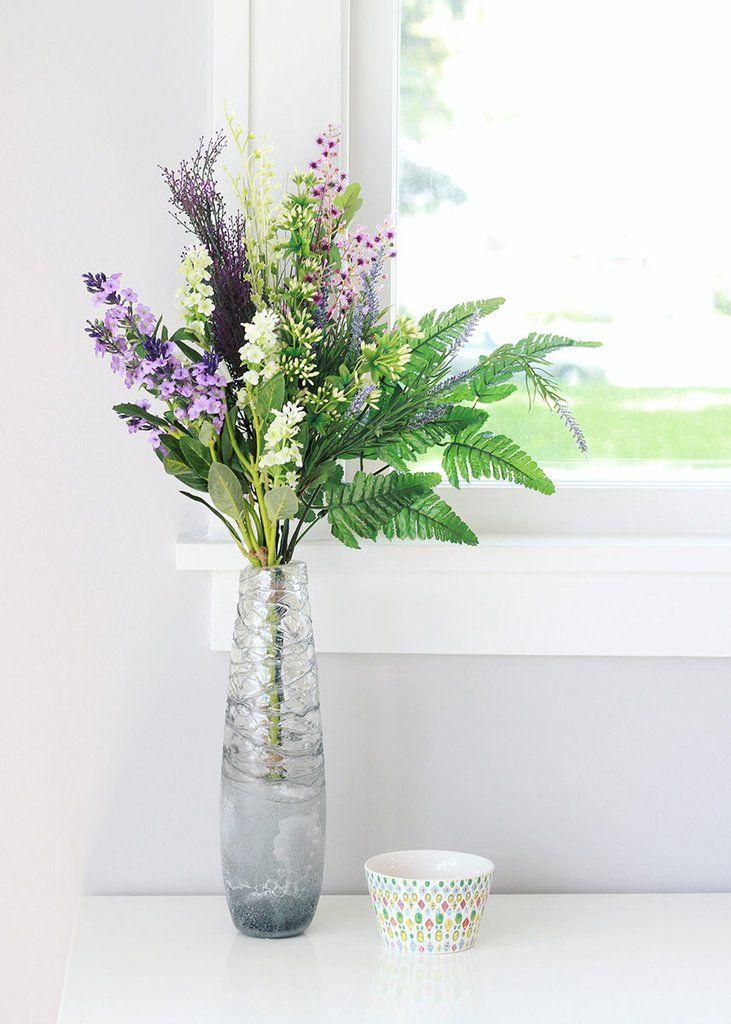 Lavender Forget Me Not Bundle Spring Silk Flowers Afloral
