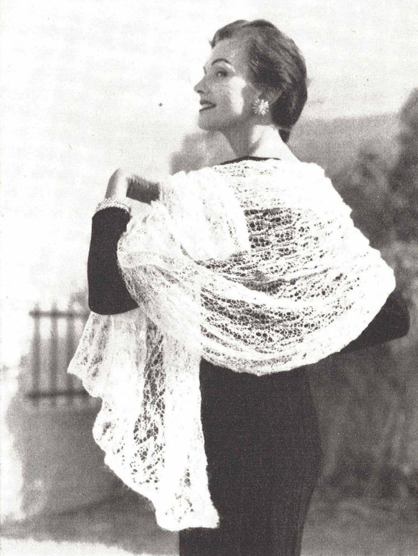 Aire shawl 1950s knitting wedding bridal mohair stole wrap cover aire shawl 1950s knitting wedding bridal mohair stole wrap cover 50s vintage vogue pattern bankloansurffo Choice Image