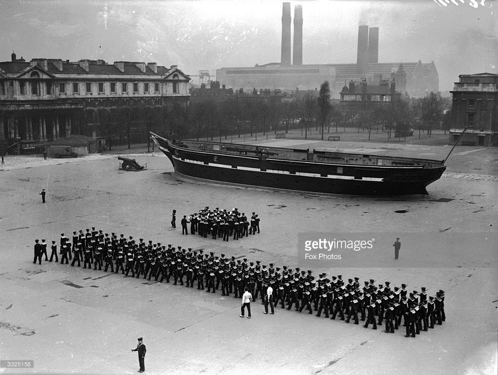 The Royal Hospital School rehearsing for the Royal Tournament at Greenwich. April 01, 1929