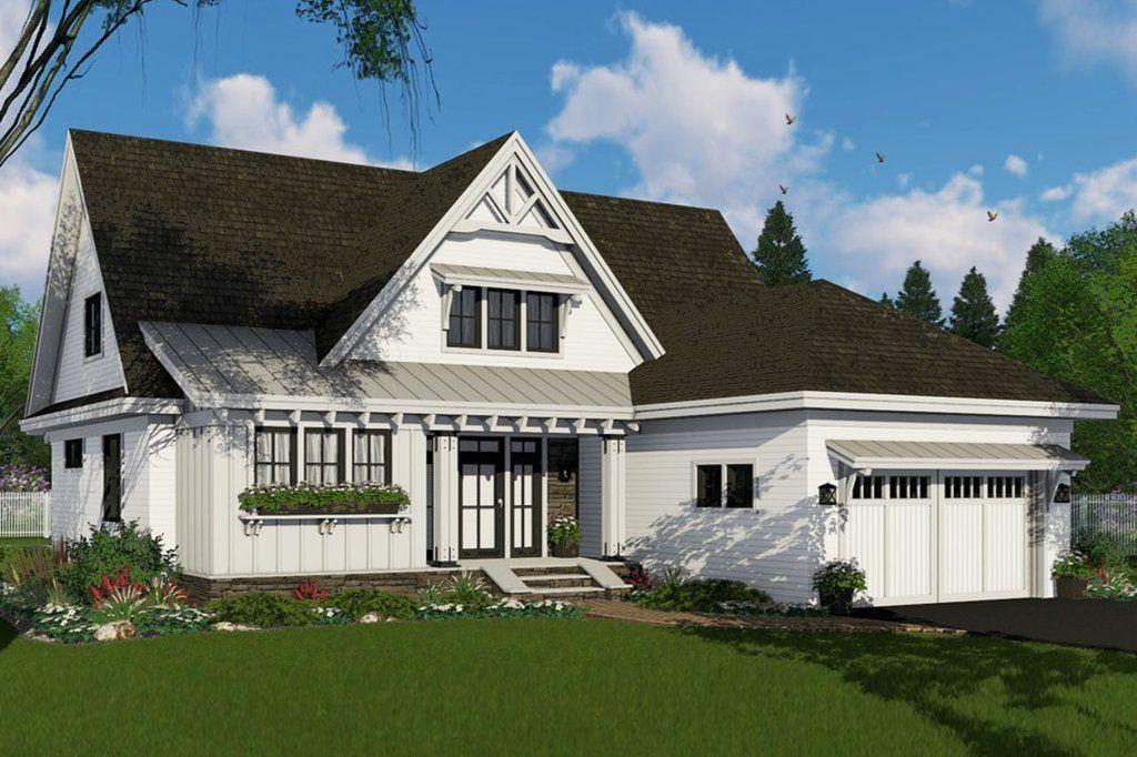 This farmhouse design floor plan is…