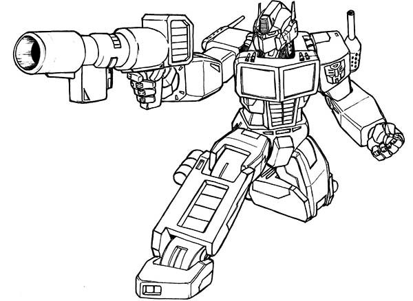 Transformers Optimus Prime Bazooka Of Coloring Page Projects to - new transformers movie coloring pages