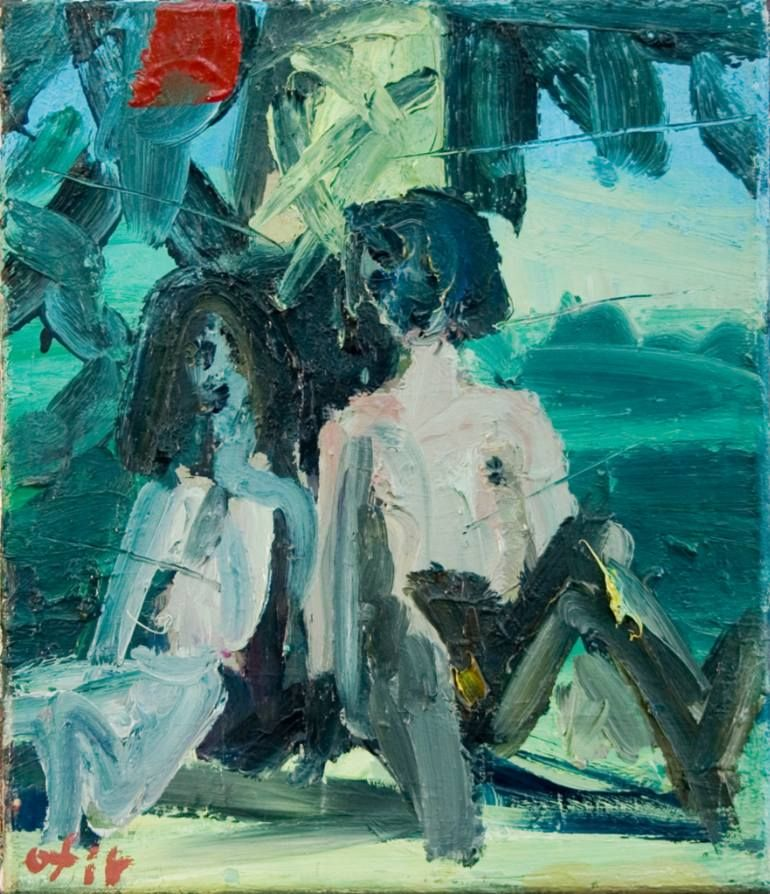 "Saatchi Art Artist ofir dor; Painting, ""Couple under a Tree"" - Featured on 6 Design Ideas Inspired by Matisse - http://canvas.saatchiart.com/decor/inspiration/6-design-ideas-inspired-by-matisse"