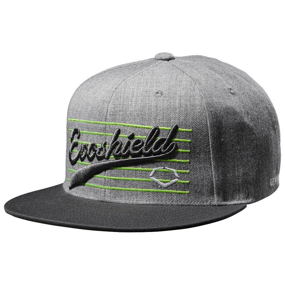 new concept 80943 bab88 Evoshield Script Snapback Baseball Softball Hat - Charcoal (Grey)