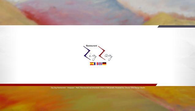 Diseño web para: www.zigzagrestaurant.com