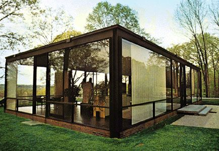 Mid Century Glass House Built In 1949 In Connecticut Designed By Philip Johnson