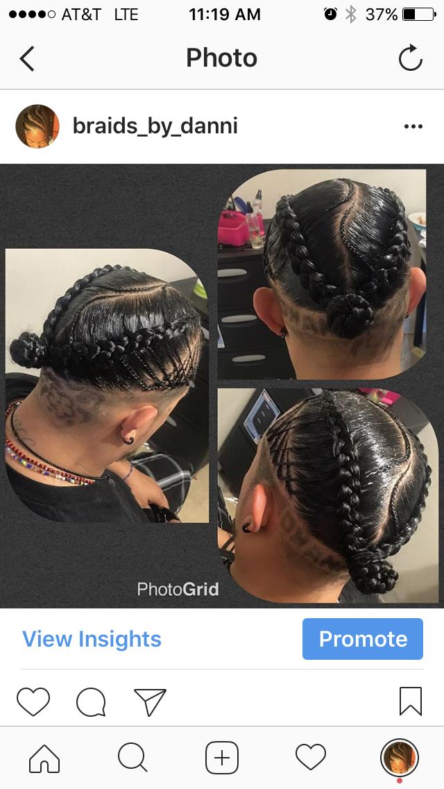 men braids box braids black hair hairstyles cornrows bun
