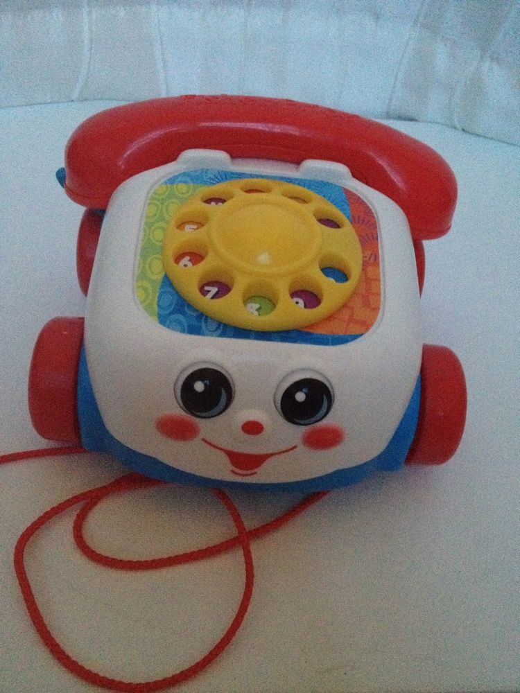 Fisher Price Telephone Baby Phone Dial Pull Toy