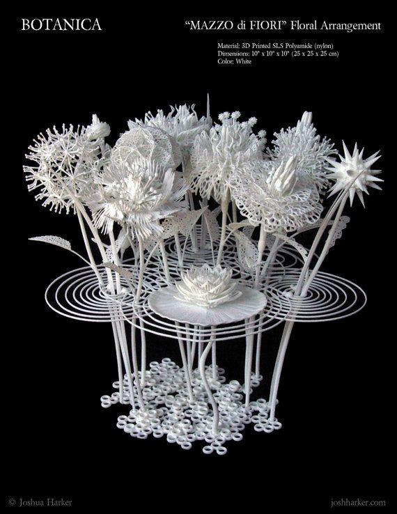 Mazzo di Fiori - 3d Printed Sculpture by Joshua Harker
