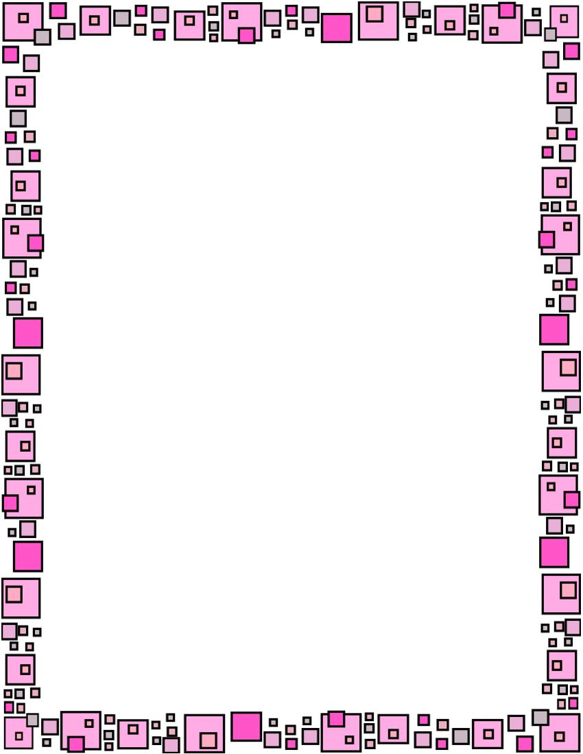 boxes frame pink | Fonts - Borders -Clip Art | Pinterest | Frame ...