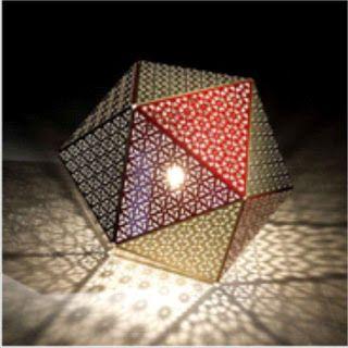 La magia de la geometría, las perforadoras y un foco.